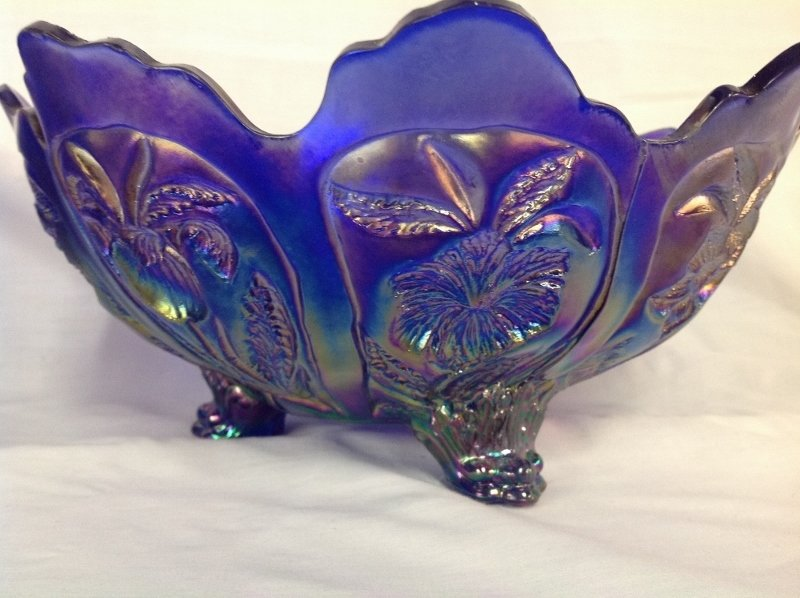 Imperial Glass Rams Head Center Piece Bowl and Footed - 3