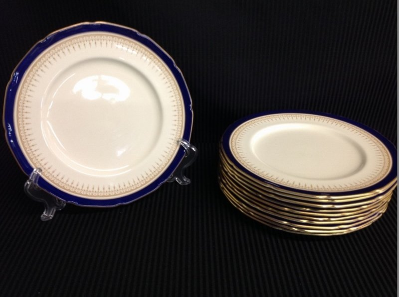 12 Plates of Royal Dalton Duke of York Pattern