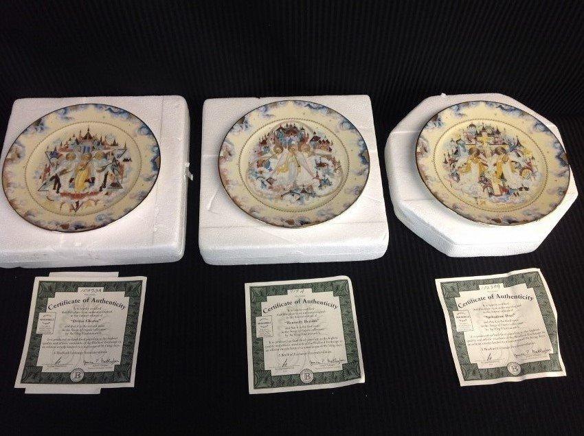Set of 3 PLATES - BRADFORD EXCHANGE OLEG YADIMIROVICH