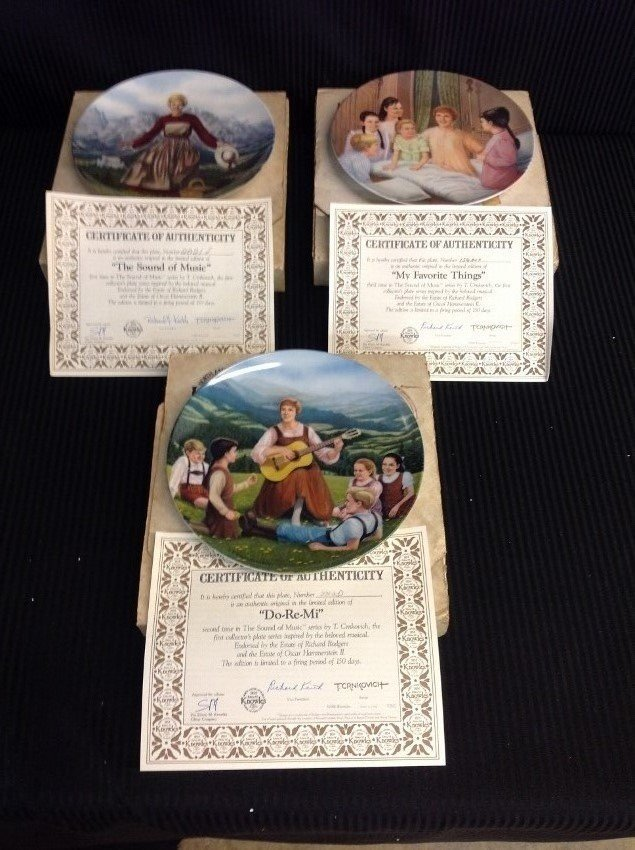 The Sound of Music Collector's Plates by Edwin M.