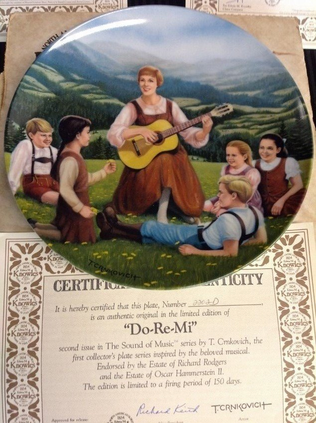 The Sound of Music Collector's Plates by Edwin M. - 2