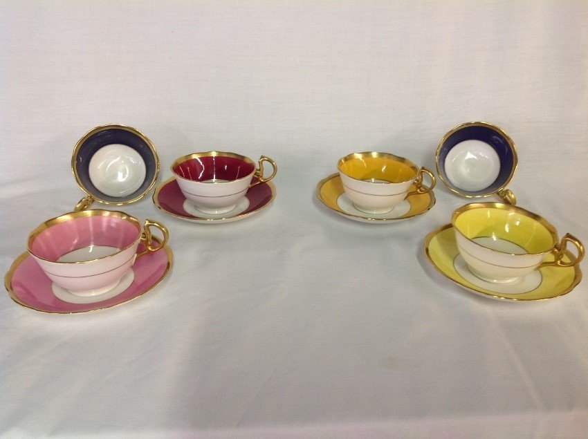 Royal Albert 4 Sets Teacups & Saucers with 2 Extra