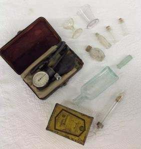 Lot of 11 Antique Medical Items