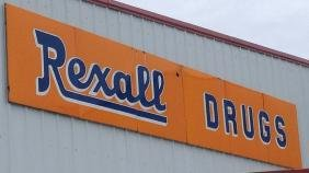Porcelain Rexall Drugs Sign