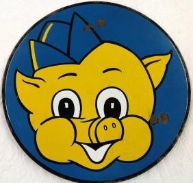 Porcelain Piggly Wiggly Sign