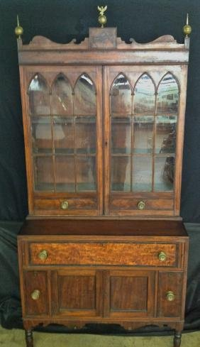 Federal Mohagany Bookcase Secretery Desk