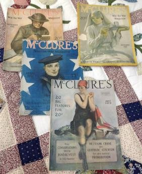 Lot of 4 McClures Magazines