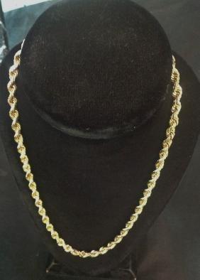 10K Yellow Gold Heavy Rope Chain