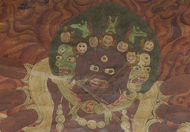 A 17th/18th Century or Later Thangka of Mahakala