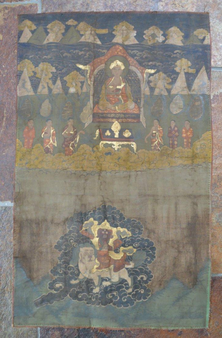 18th 19th Century Sino Tibetan Thangka