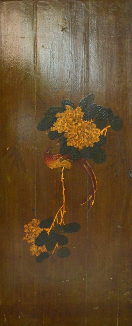 Qing Dynasty Painting on Wood Panel