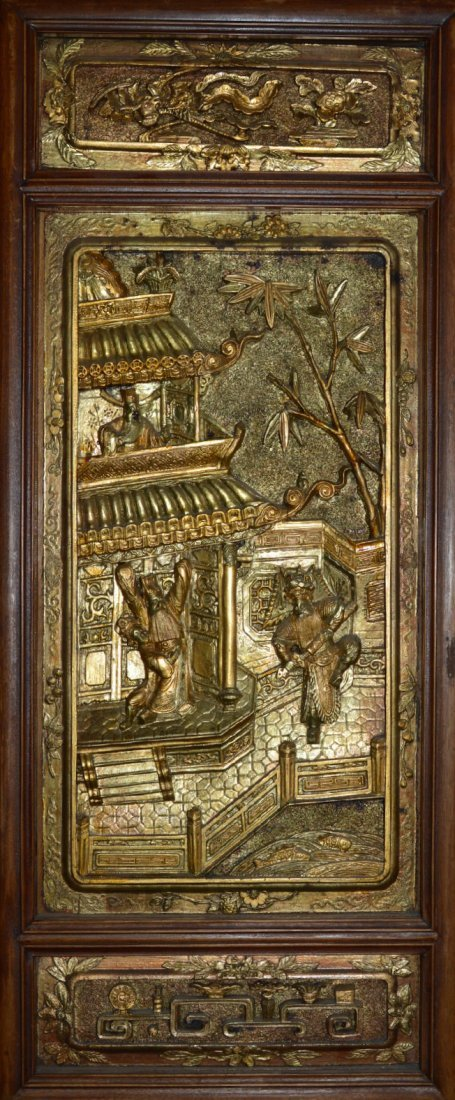 Qing Dynasty Republic Era Carved Wood Panels