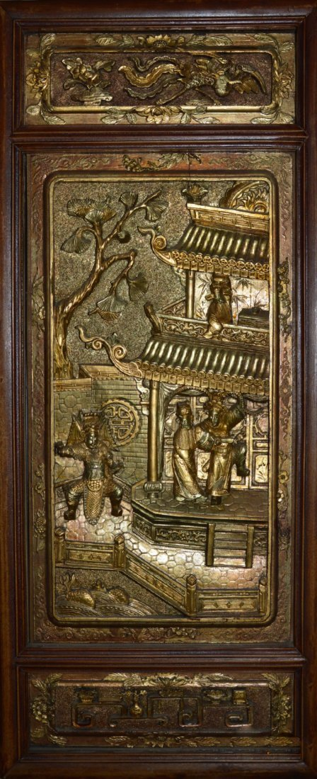 Qing Dynasty Republic Era Carved Wood Panels #2