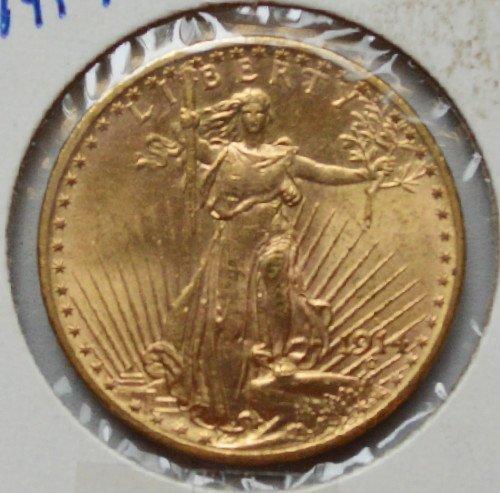 1914-s St Gaudens 20$ Gold Piece, MS +