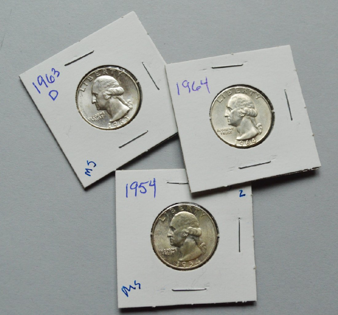 Lot of 3 Washington Silver Quarters