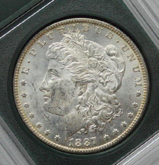 1887 O Morgan Silver Dollar MS +