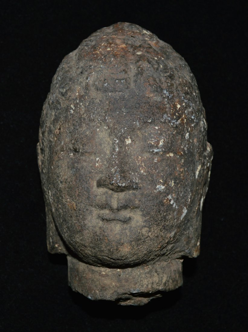 Wei Tang Dynasty Stone Buddha Haed