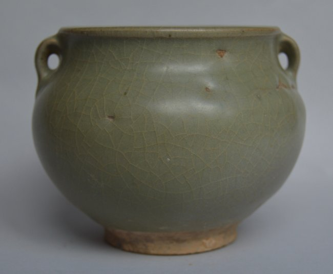 Song Ming Dynasty Longquan 2 Handle Jar