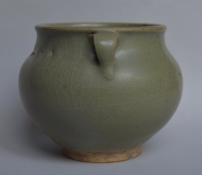 Song Ming Dynasty Longquan 2 Handle Jar - 2