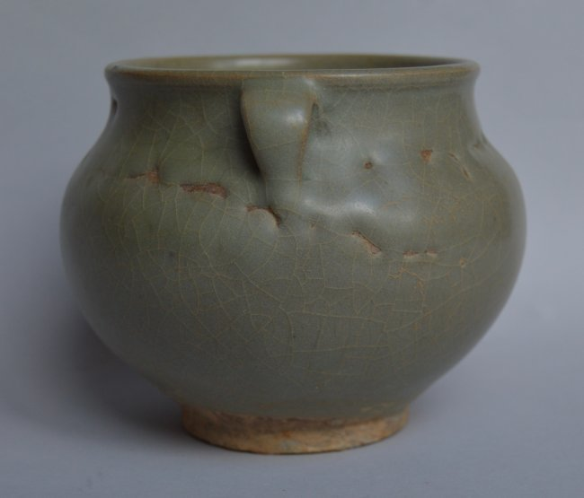 Song Ming Dynasty Longquan 2 Handle Jar - 3
