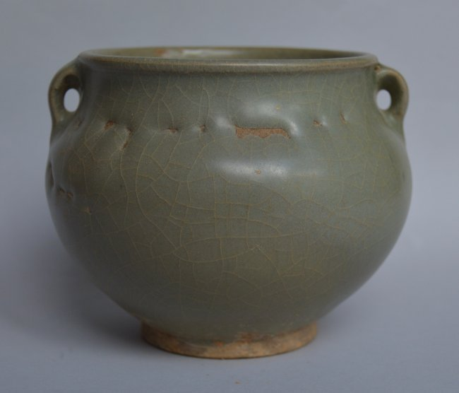 Song Ming Dynasty Longquan 2 Handle Jar - 4