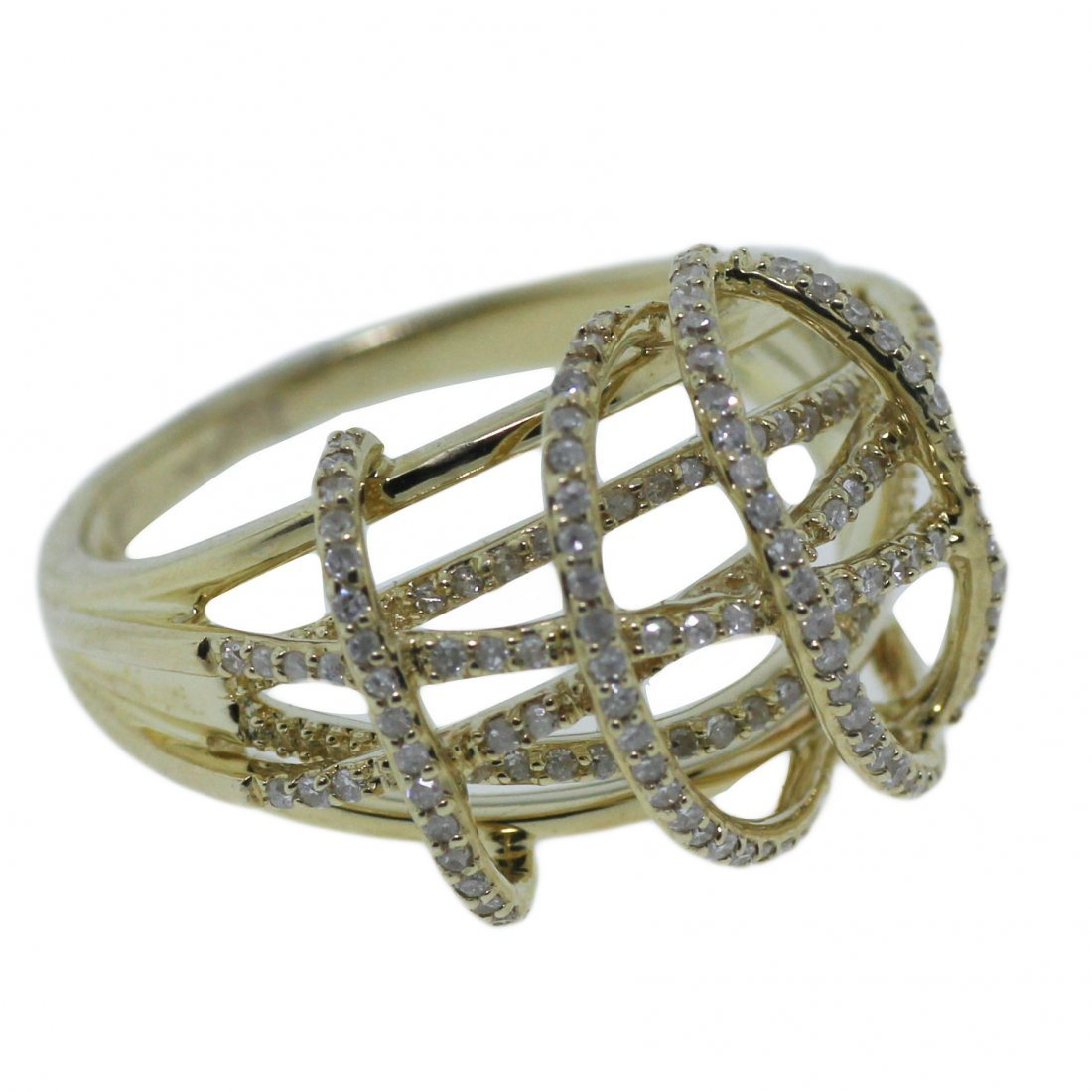 Micro Pave Diamond & 14K Yellow Gold Ring Watch Video!