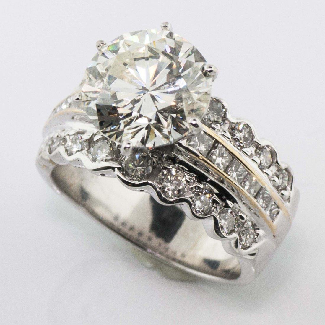 IGI CERTIFIED 4.54 CENTER H SI2 DIAMOND 6.13TW  RING!