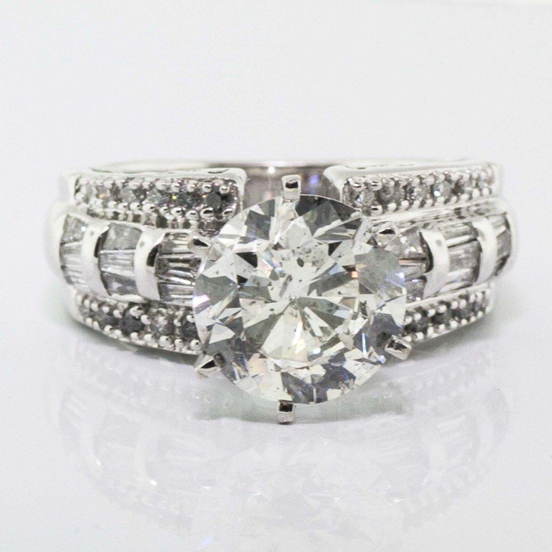 IGI CERTIFIED 4.62CT E SI2 CENTER DIAMOND 5.62 TW  RING