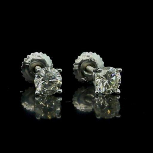 14k Gold 1.05ctw Diamond Stud Earrings Watch Video!