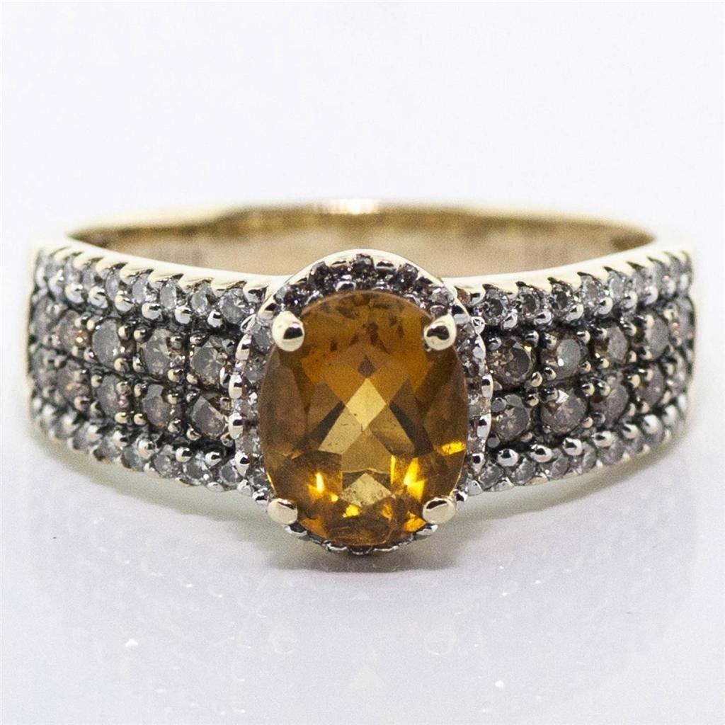 SIGNED LEVIAN DIAMOND & CITRINE RING WATCH VIDEO!