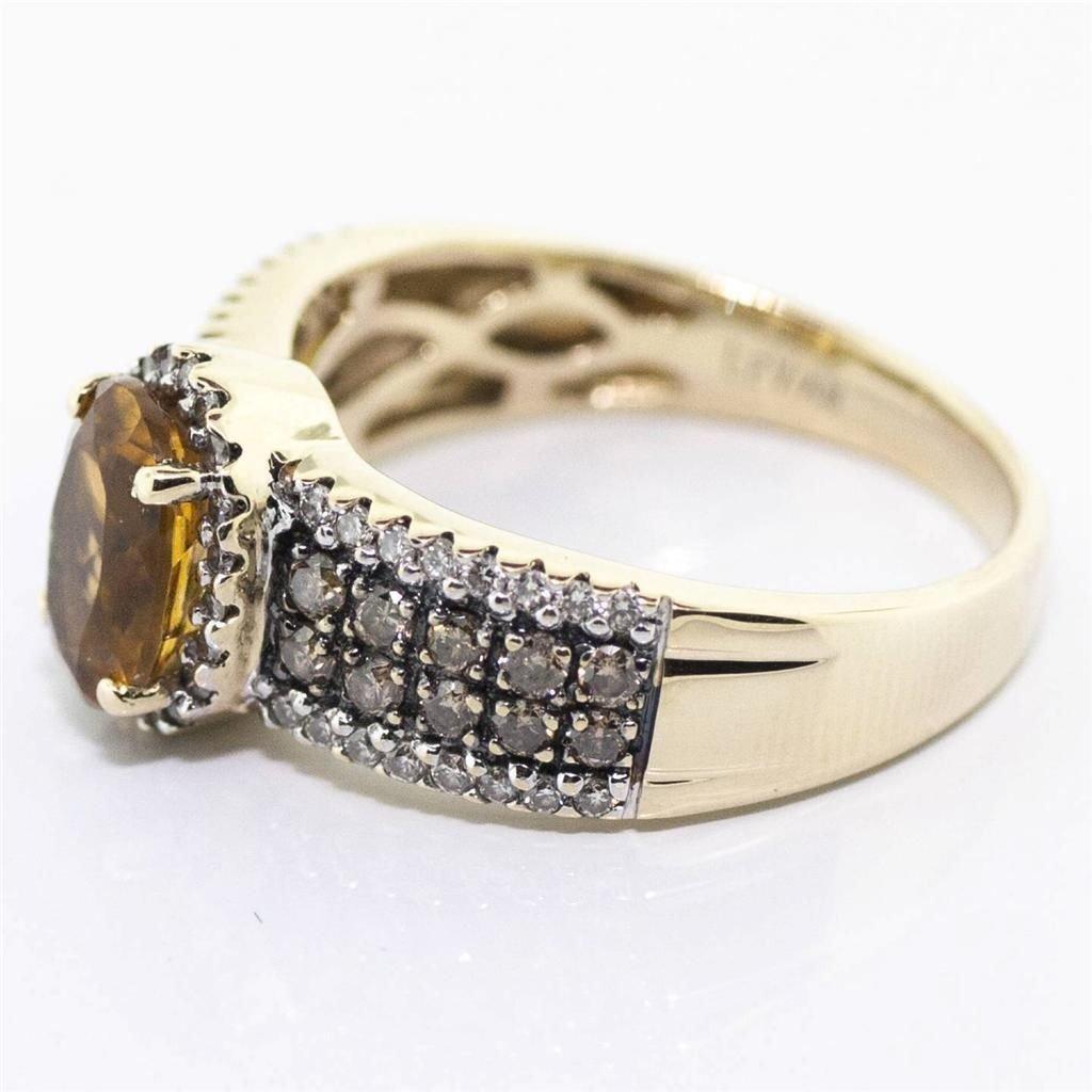 SIGNED LEVIAN DIAMOND & CITRINE RING WATCH VIDEO! - 4