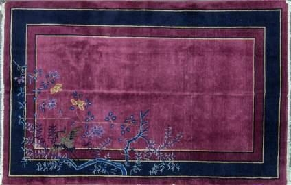 "Antique Chinese Peking rug 4'11"" x 7'8"", c-1920"