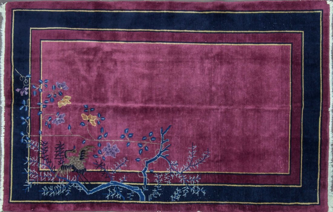 "Antique Chinese Peking rug 4'11"" x 7'8"", c-1920"