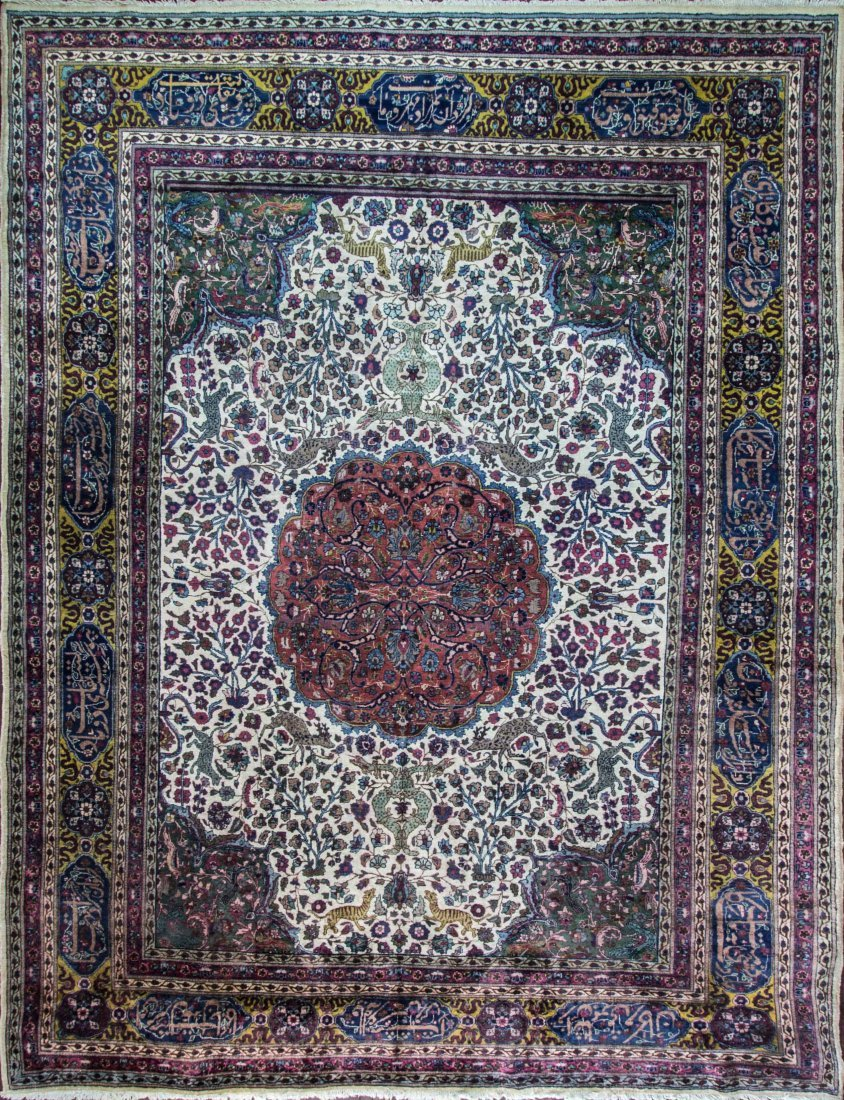 "Antique Persian Tabriz, 10'3"" x 14"