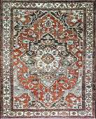"9'10"" x 12' Antique Serapi, Persian, late 19th century"