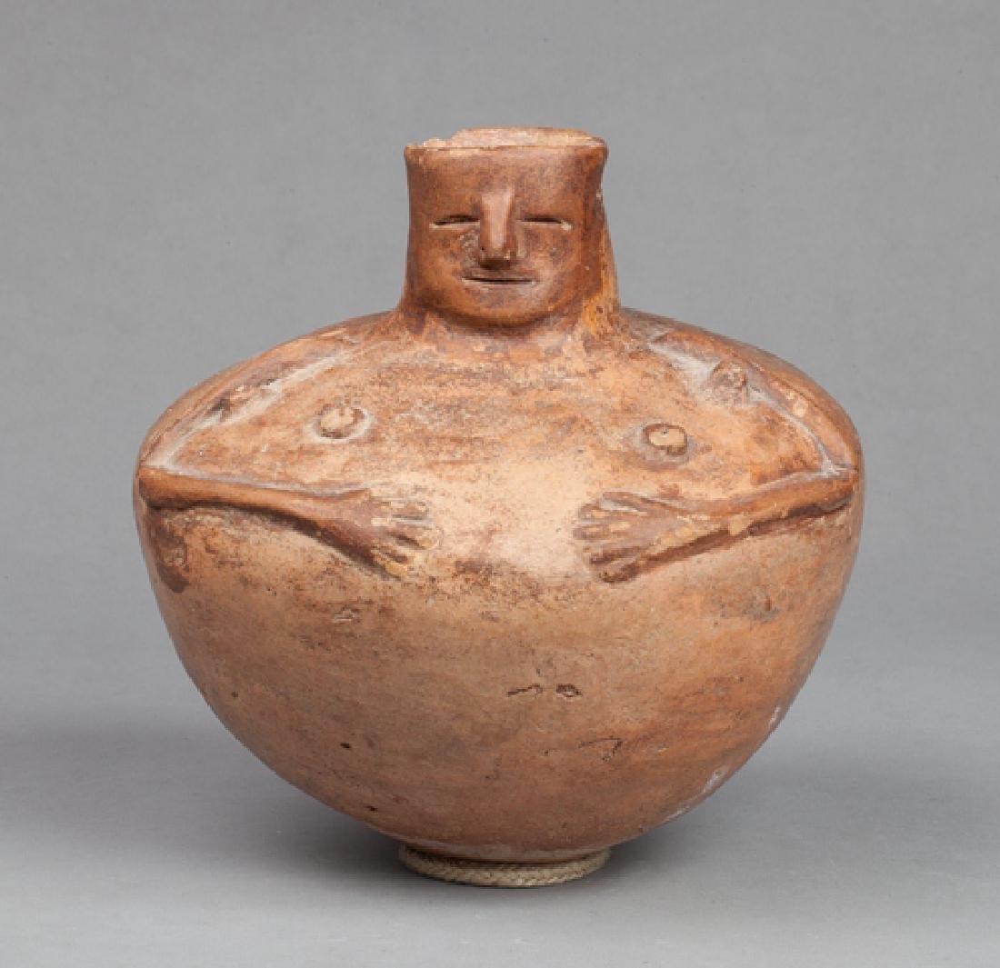 Calima hominoid vase