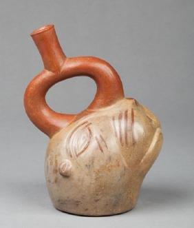 Moche stirrup vase