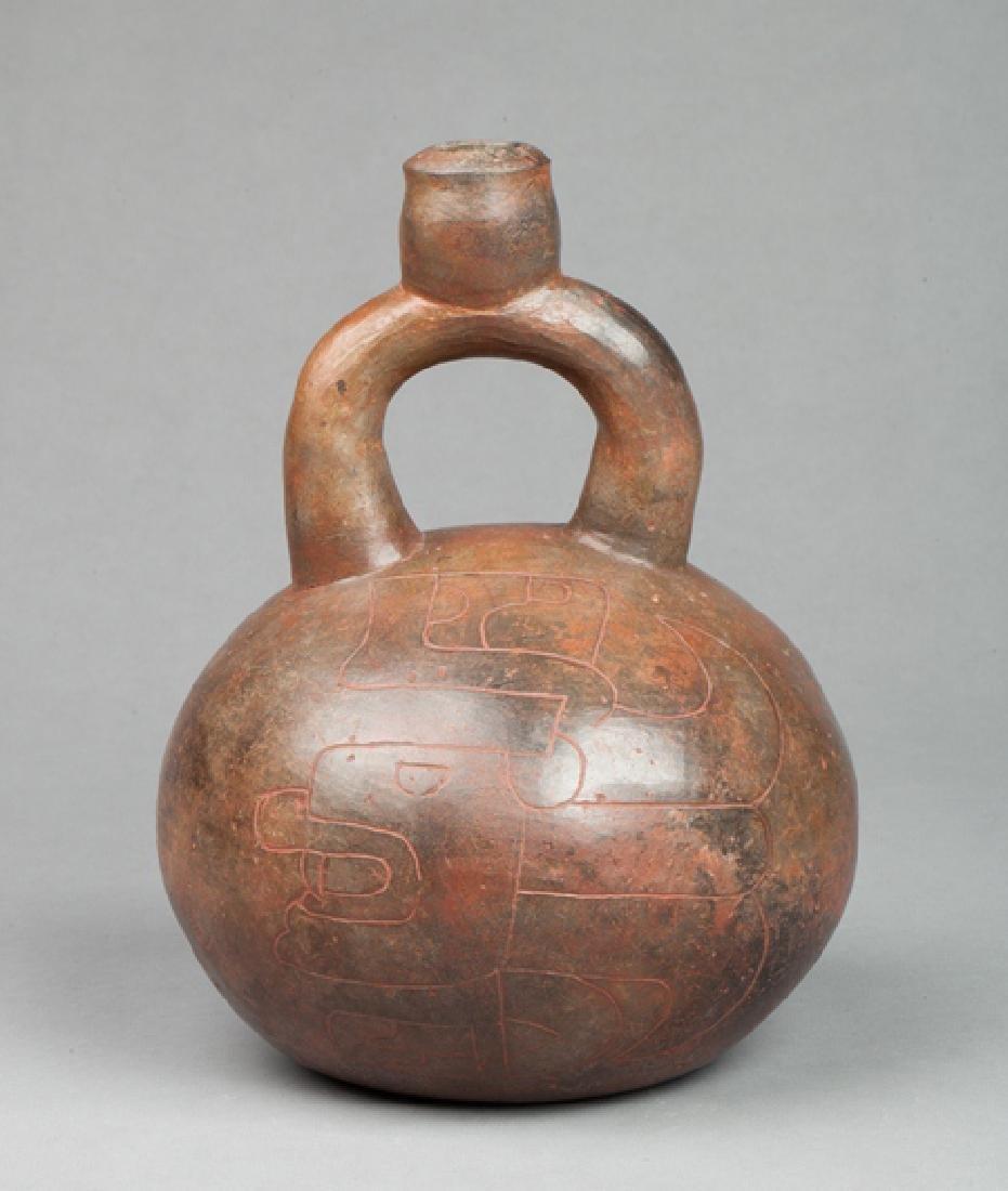 Chavin stirrup vase
