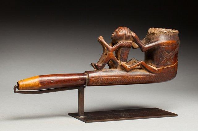 Tshokwe ceremonial pipe