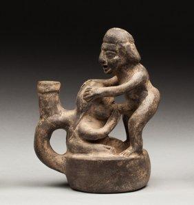 Moche Style Erotic Vase