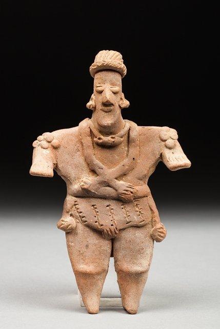 Colima hominoid statue