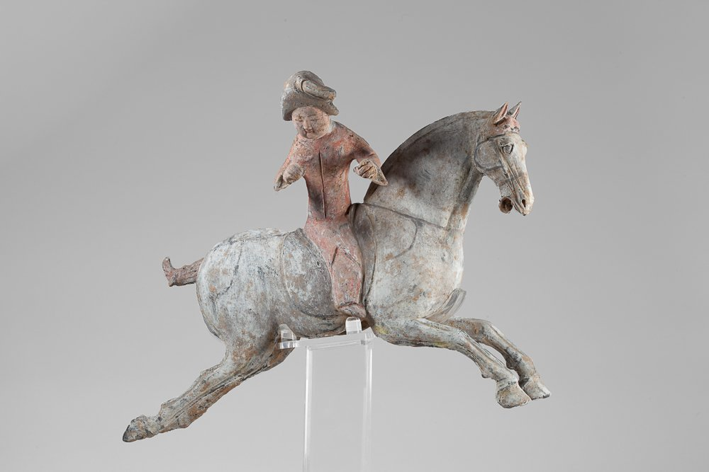 Tang Fat Lady horsewoman playing polo