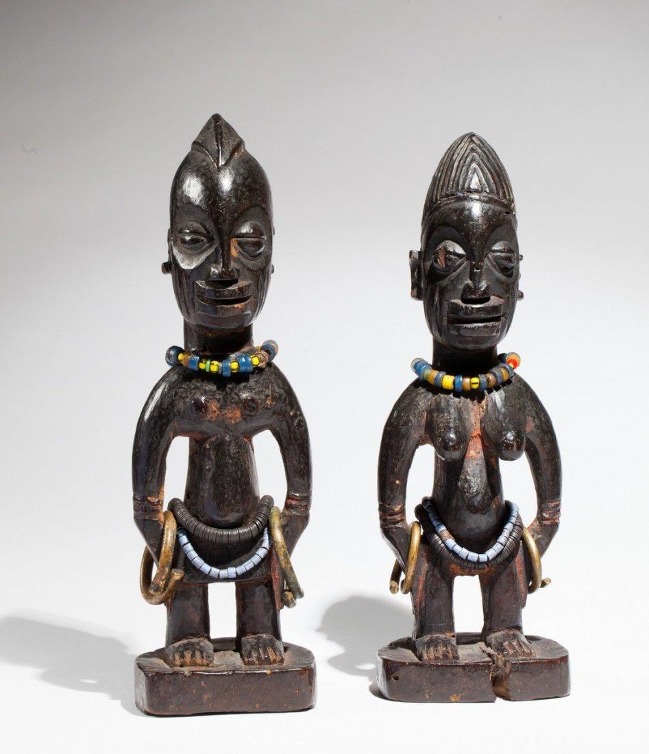 Pair of Ibedji statues
