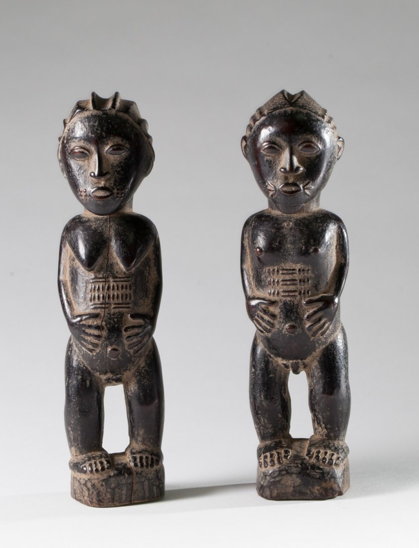 Pair of baoule statues