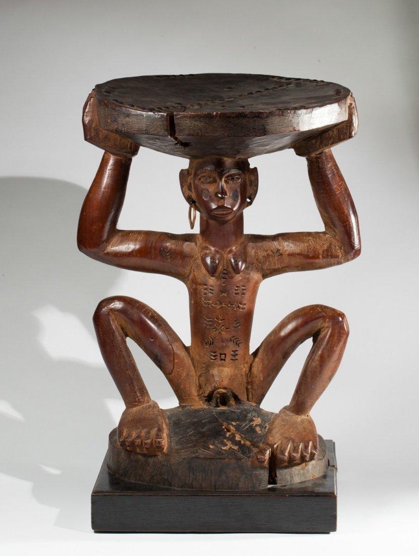 Very rare zulu stool