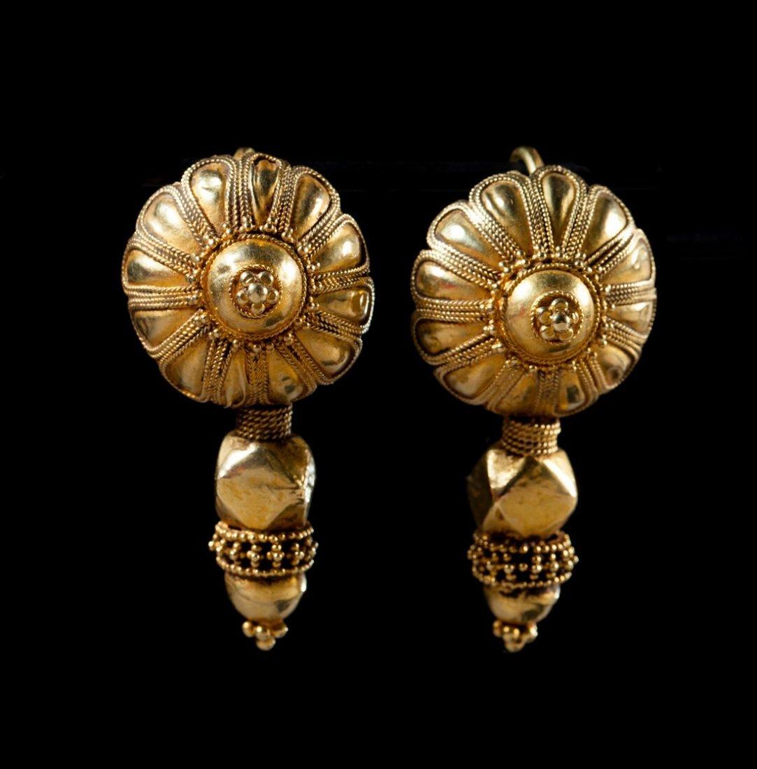Pair of Indian earrings ornaments