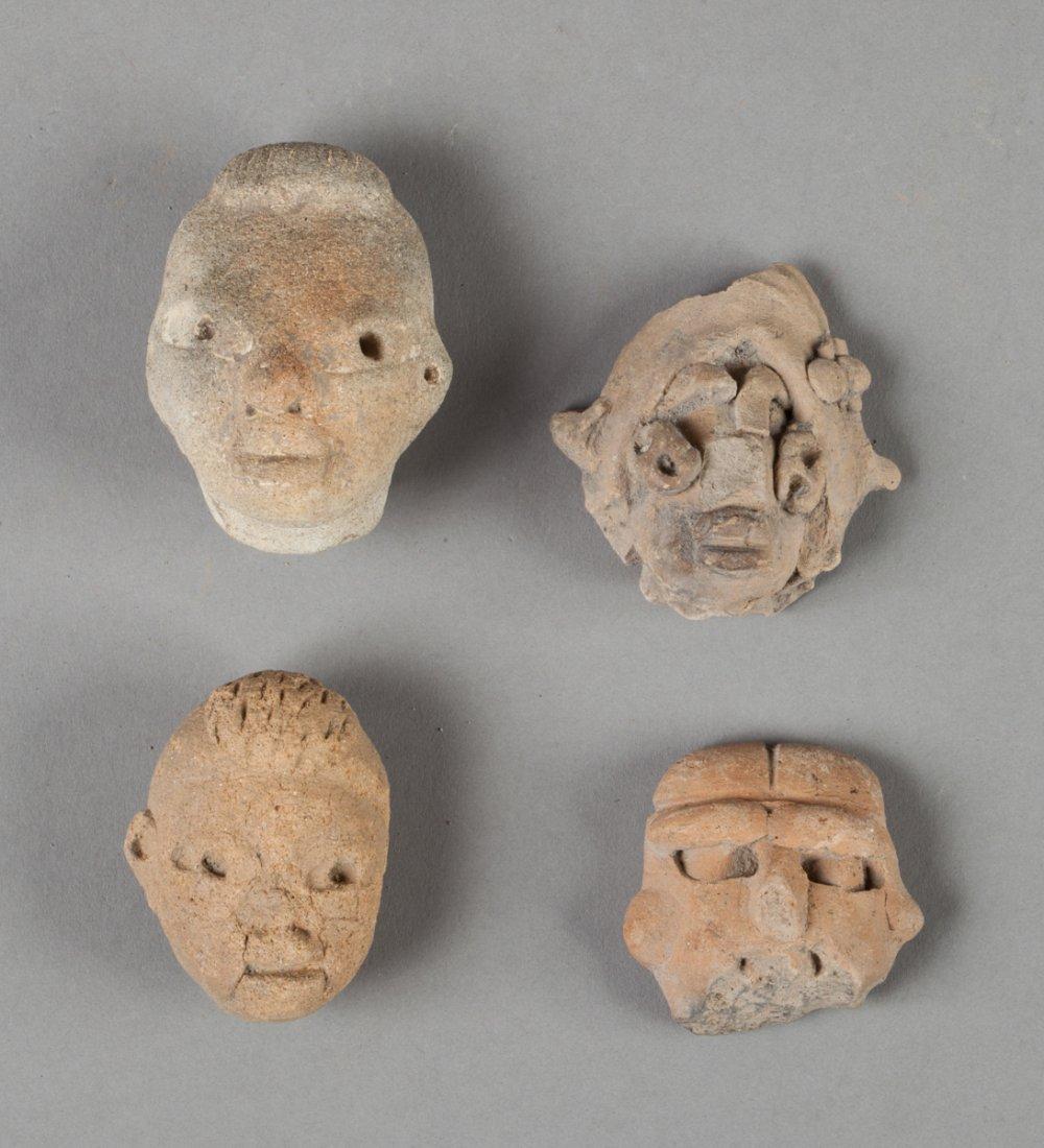 Four tlatilco heads
