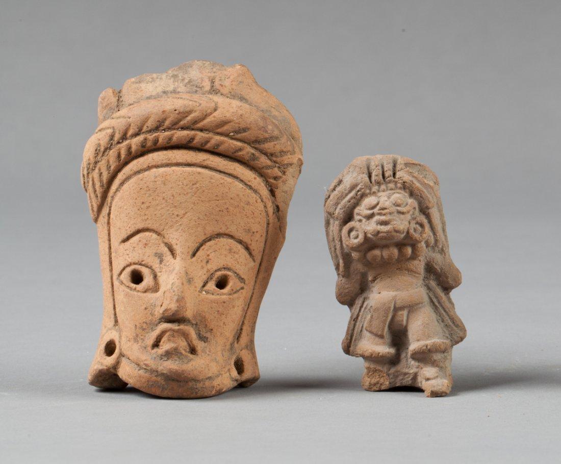Teotihuacan statue and San Geronimo head