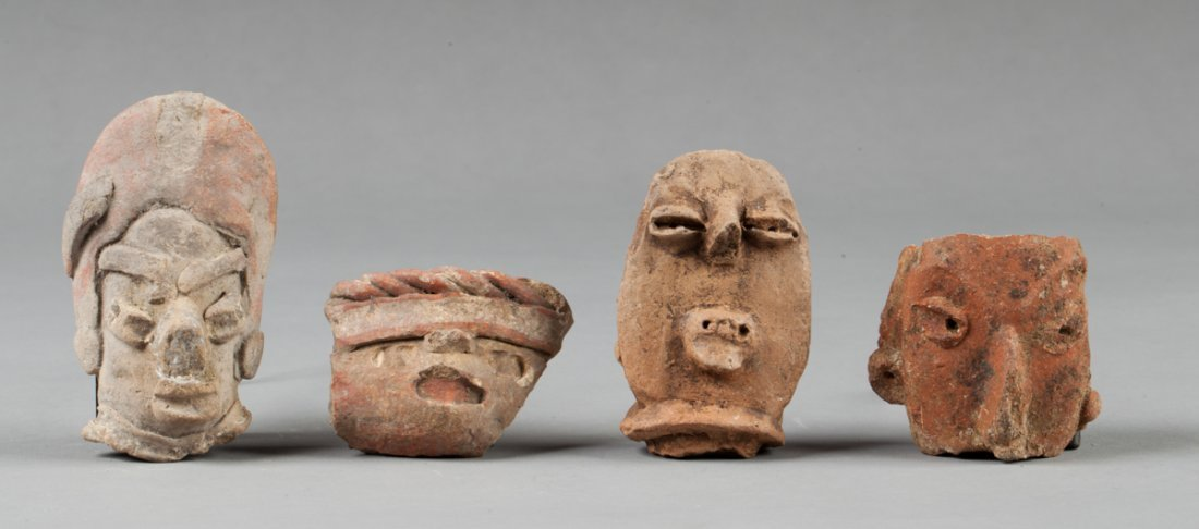 Four Tlatilco and Michoacan Heads