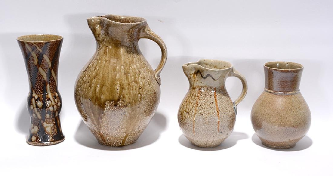 Mark Hewitt. Two Pitchers and Two Vases.